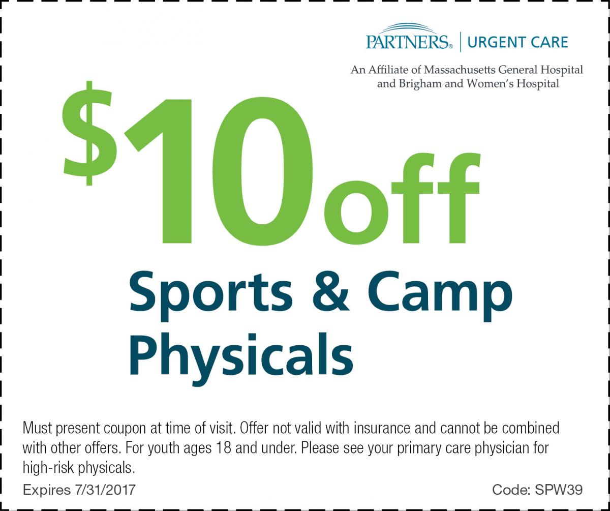 Partners Urgent Care Offers Sports Physical Exams for Kids